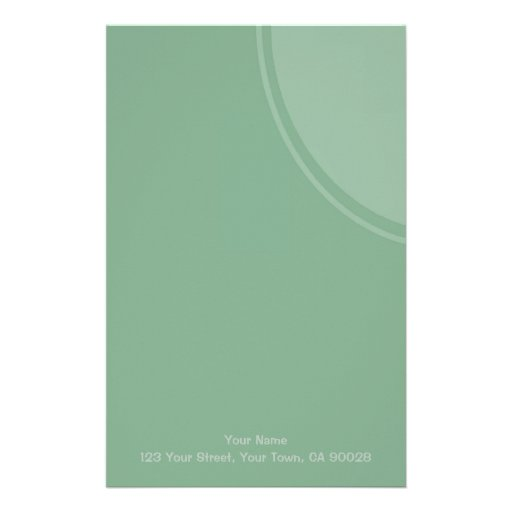 Pastel Green mod circle Stationery Design