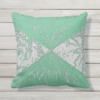 Pastel Green Outdoor or Indoor Pillow