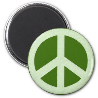 Pastel Green Peace Sign Magnet