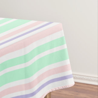 Pastel Green Pink and Purple Table Cloth Tablecloth