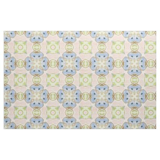 Pastel Green Pink Blue Cute Nouveau Mosaic Pattern