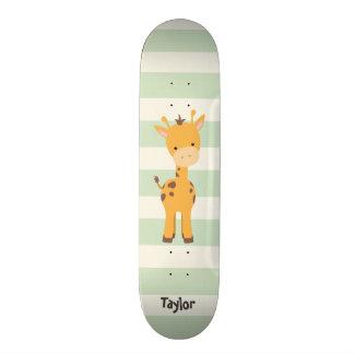 Pastel Green Stripes.jpg Skate Board Deck