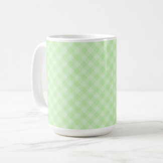 Pastel Green Tartan 15 oz Mug