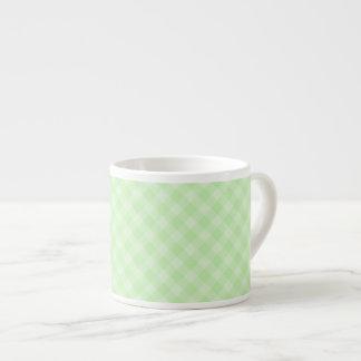 Pastel Green Tartan Espresso Cup