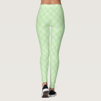 Pastel Green Tartan Leggings
