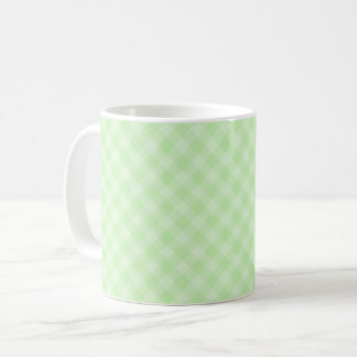 Pastel Green Tartan Mug