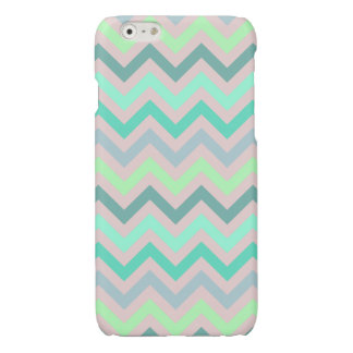 Pastel Green Teal Chevron iPhone 6 Plus Case