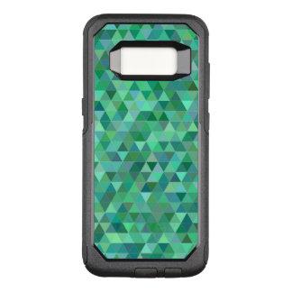 Pastel green triangles OtterBox commuter samsung galaxy s8 case