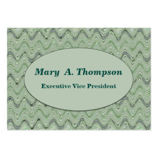 Pastel Green wavy lines Large Business Cards (Pack Of 100)