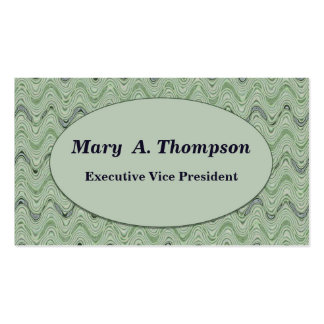 Pastel Green wavy lines Double-Sided Standard Business Cards (Pack Of 100)