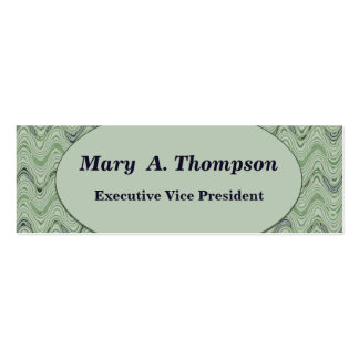 Pastel Green wavy lines Double-Sided Mini Business Cards (Pack Of 20)