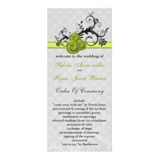 pastel green Wedding program Rack Cards