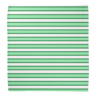 Pastel Green, White and Dark Green Stripes Head Kerchief
