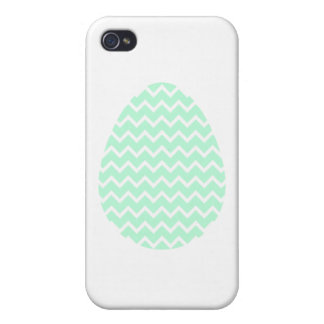 Pastel Green Zigzag Easter Egg. iPhone 4 Case