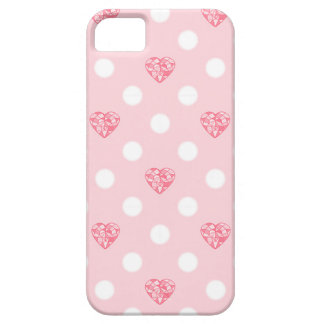 Pastel Heart Crystal and Dots iPhone 5 Covers