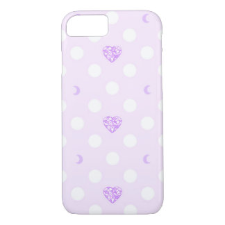 Pastel Heart Crystal and Moon iPhone 8/7 Case