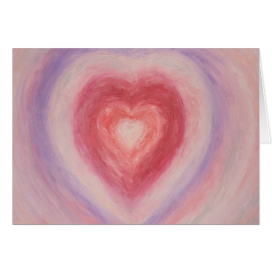 Pastel Heart Painting Card