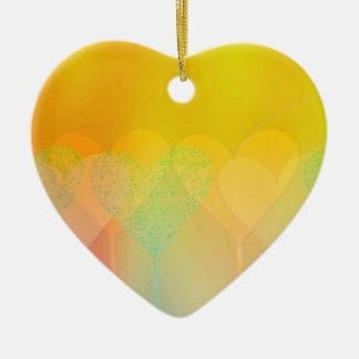Pastel Hearts Ceramic Heart Decoration