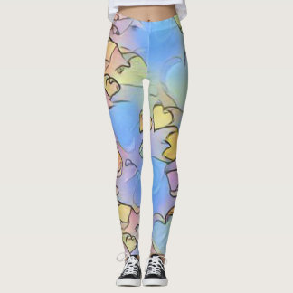 Pastel Hearts Leggings