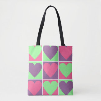 Pastel Hearts Tote Bag
