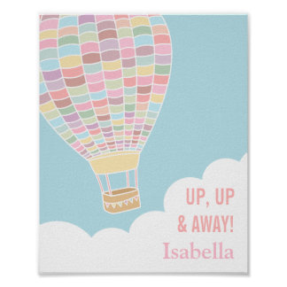 Pastel Hot Air Balloon Girls Room Decor
