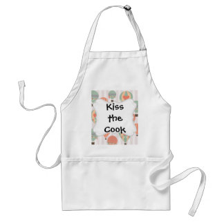 Pastel Hot Air Balloons Rising Pink Striped Sky Standard Apron