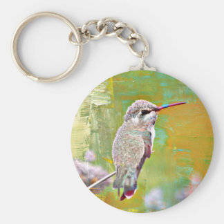 Pastel Hummer Button Key Chain