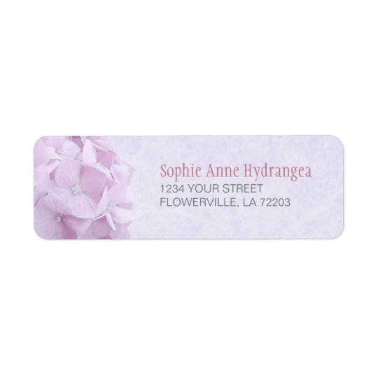 Pastel Hydrangea FlowersLabels Return Address Label