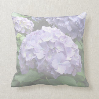 Pastel Hydrangeas at Trebah Polyester Cushion