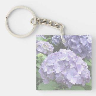 Pastel Hydrangeas Trebah Garden Acrylic Key Ring