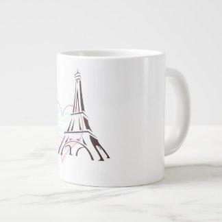 Pastel In Paris Jumbo Mugged Large Coffee Mug