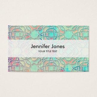 Pastel Infinite Celtic Knot Pattern Business Card