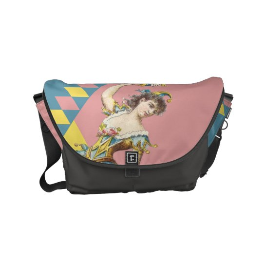 Pastel Jester messenger bag