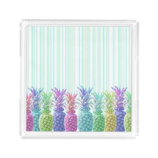 Pastel Jungle and Stripes Acrylic Tray