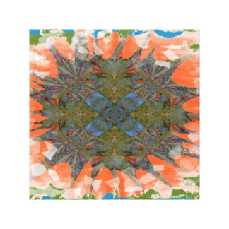 PASTEL KALEIDOSCOPE FRACTAL IMAGE GALLERY WRAP CANVAS