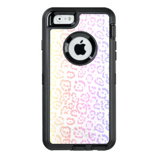 Pastel Kawaii Leopard Rainbow Animal Print OtterBox Defender iPhone Case