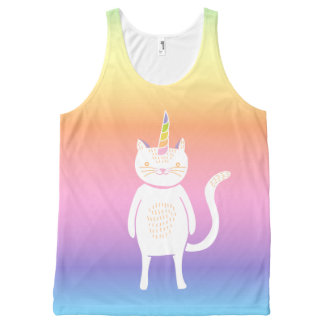 Pastel Kitty Unicorn All-Over Print Tank Top
