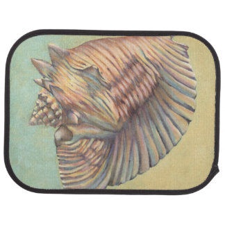 Pastel Large Conch Shell Car Mat