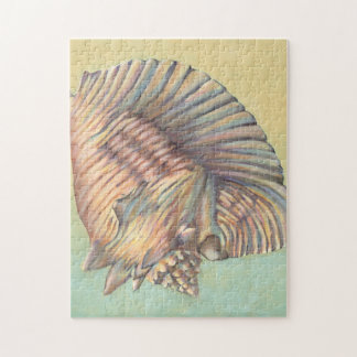 Pastel Large Conch Shell Jigsaw Puzzle