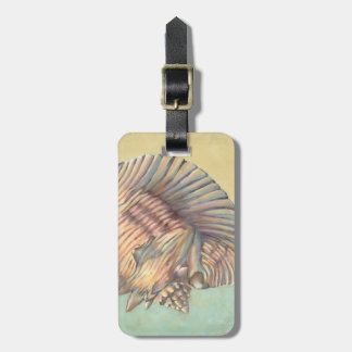 Pastel Large Conch Shell Luggage Tag