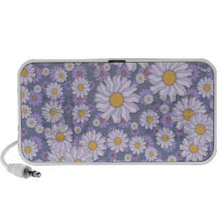 Pastel Lavender Daisies Art Portable Speakers