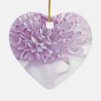 Pastel Lavender Flower Christmas Ornament