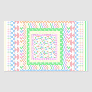 Pastel Layers Rectangular Sticker