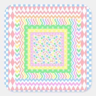 Pastel Layers Square Sticker