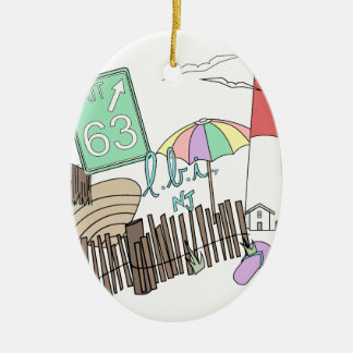 Pastel LBI Love Collage Christmas Ornament