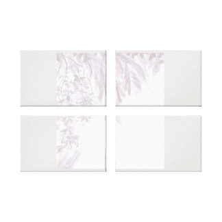 Pastel Leafy Forest Summer Wall Art