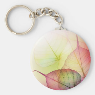 Pastel Leaves Keychain
