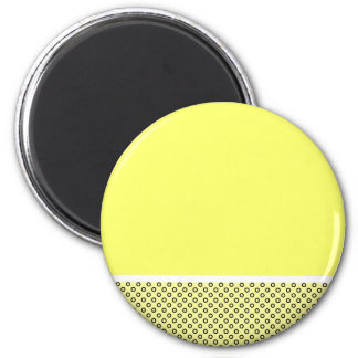Pastel Lemon Lovers 6 Cm Round Magnet
