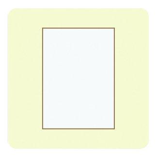 Pastel Lemon Yellow Pale Soft Meringue Yellow 5.25x5.25 Square Paper Invitation Card