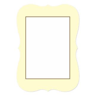Pastel Lemon Yellow Pale Soft Meringue Yellow 5x7 Paper Invitation Card